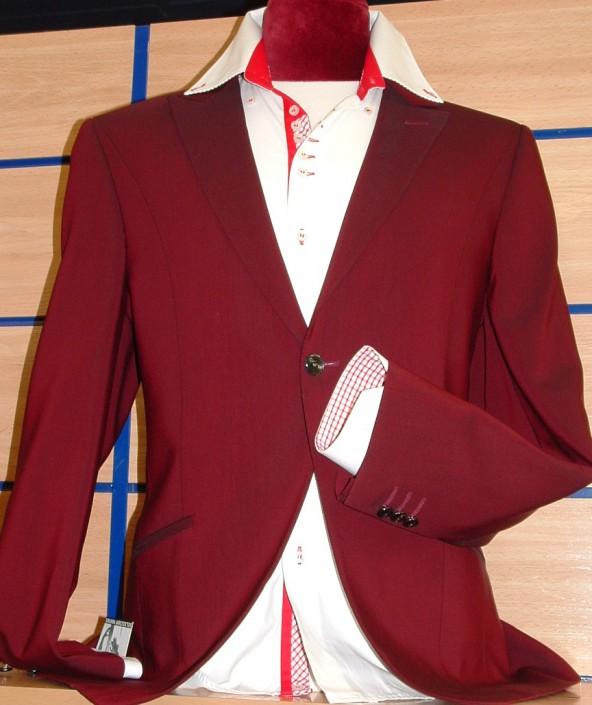 Chaquetas-Americanas granate, Jose Zaragoza moda hombre, Made in Spain