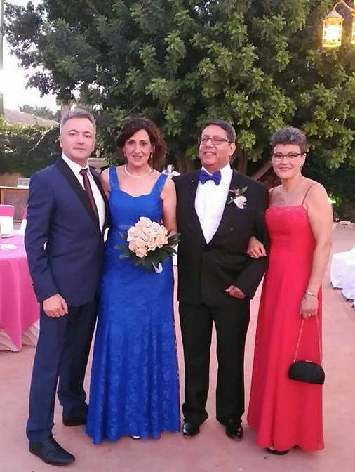 Boda de plata novio Galo Cabezas y acompañante Pablo Sailer vestido en Jose Zaragoza - Novios