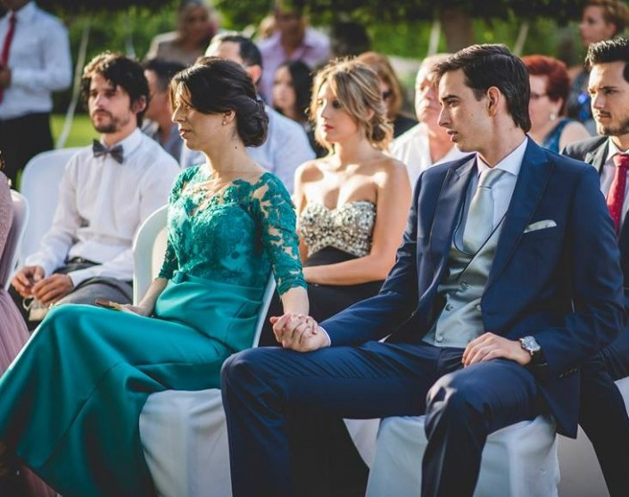 David Vicente y Arantxa en la boda de Pedro Luis Ruiz Carreras y Jenifer.