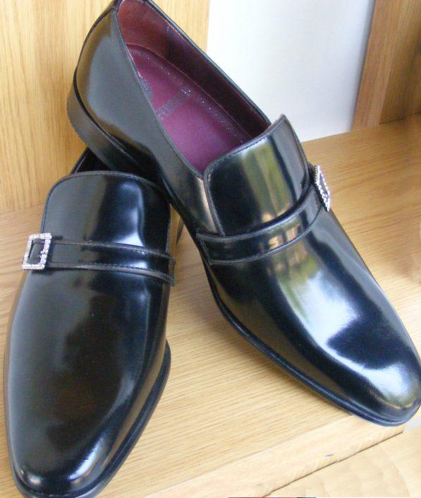 Zapatos negro con hebilla, made in Spain, Jose Zaragoza - Novios