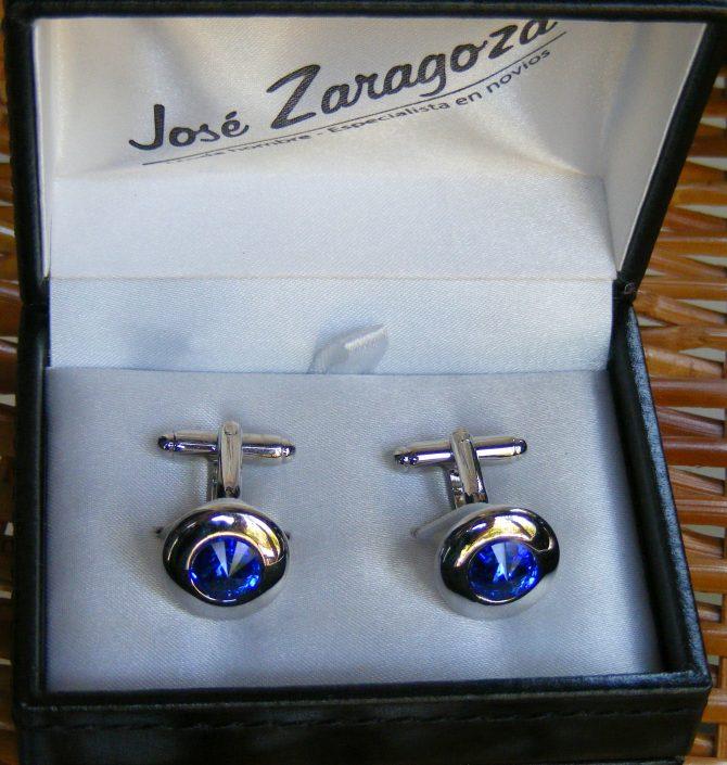 Gemelos rodio y cristal, Jose Zaragoza - Novios