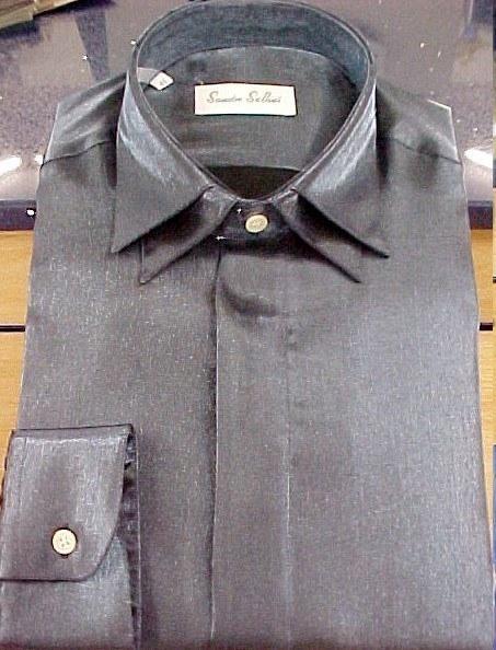 Camisa doble cuello gris, Jose Zaragoza - Novios