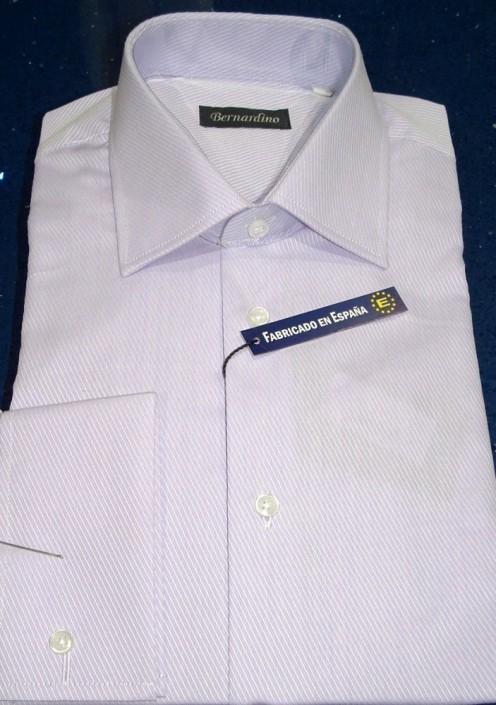 Camisa doble puño con botón y preparado para gemelos