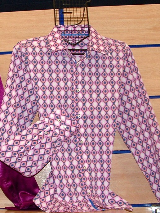 Camisa dibujo rosa, Jose Zaragoza moda hombre made in spain