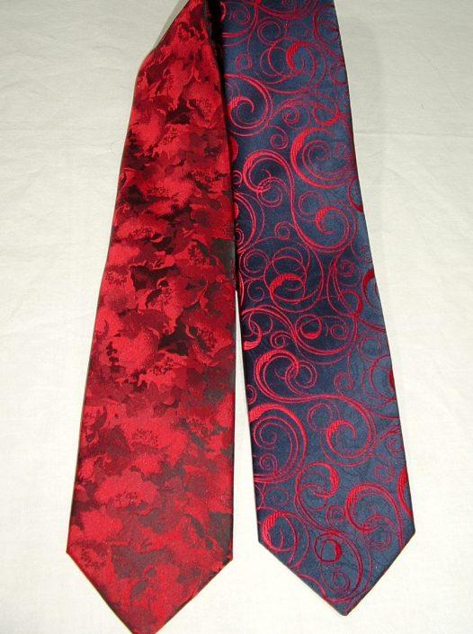 Corbatas dibujo rojas, Jose Zaragoza moda hombre
