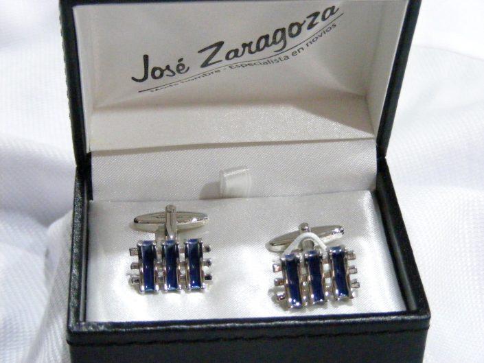 Gemelos rodio y azul, Jose Zaragoza -Novios