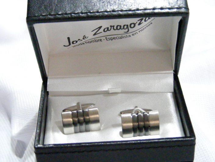 Gemelos rodio y gris, Jose Zaragoza -Novios