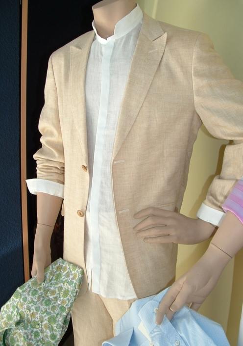 Traje informal 100% lino, Jose Zaragoza moda hombre ,Producto español