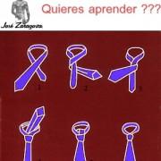Como hacer el nudo de la corbata, por Jose Zaragoza.